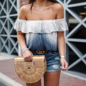 NWT Free People Blue off shoulder top